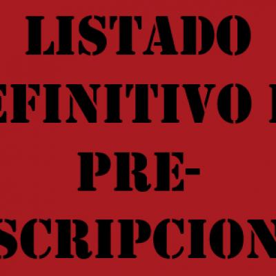 LISTADO DEFINITIVO PREINSCRIPCION CURSO 2021-2022