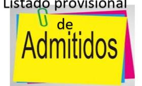 LISTADO PROVISIONAL DE PRE-INSCRITOS CURSO 2021-2022